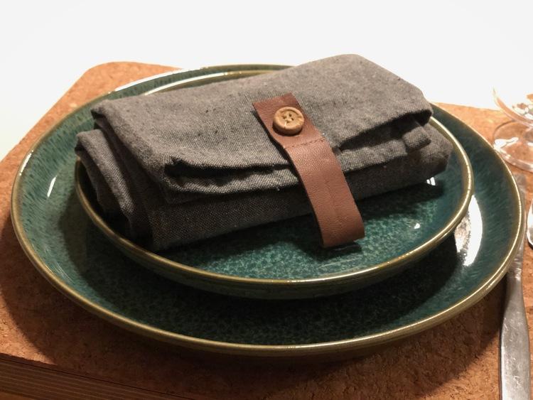 Tallrik Bitz Gastro, grön/grön stengods, 21 cm