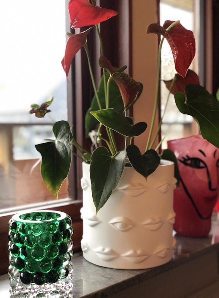 Vas/kruka Ego, keramik, 20 cm, Hallbergs belysning