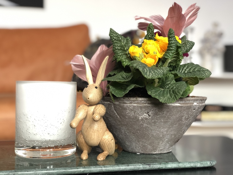 Kay Bojesen, kanin, hurricane soda vit från Skogsberg&Smart, blommor
