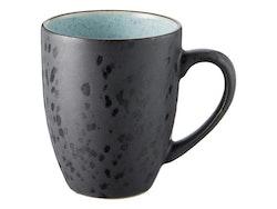 Mugg Bitz, svart/ljusblå, 30 cl