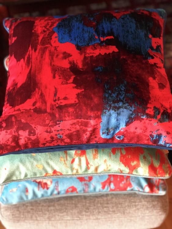 Kudde, Gelo Verdino, Gelo Blu, Red Blue Geode från Susi Bellamy