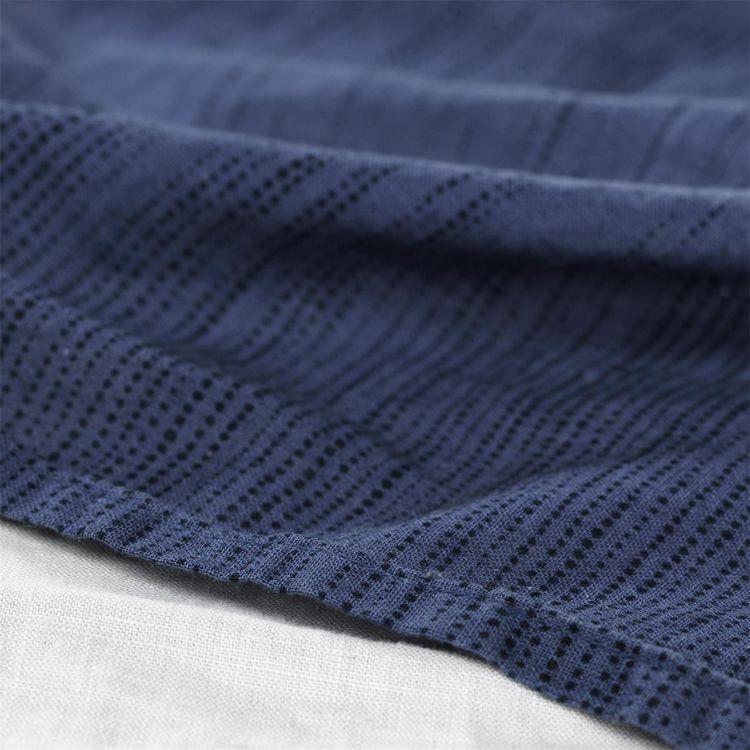 Påslakanset Gripsholm Leo linnemix, blå