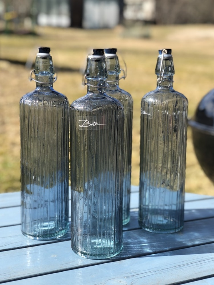 Bitz Kusintha Vattenflaska 1,2 liter blå