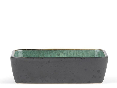 Fat, Bitz, 33x21 cm, svart/grön