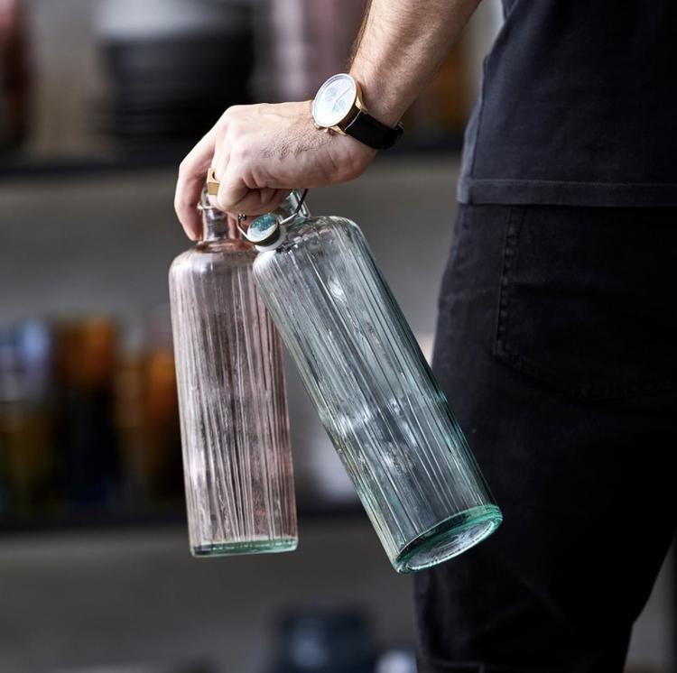 BITZ Kusintha vattenflaska 1,2 liter grön