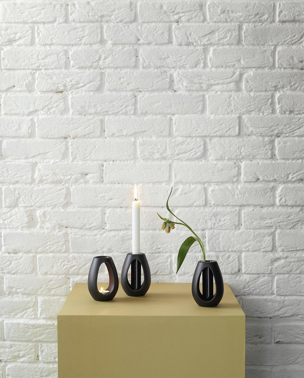 Ljusstake Kokong, brun, design Bernadotte & Kylberg, Kähler