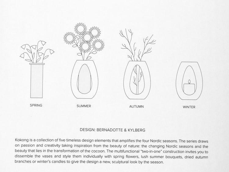 Ljusstake Kokong, design Bernadotte & Kylberg, Kähler