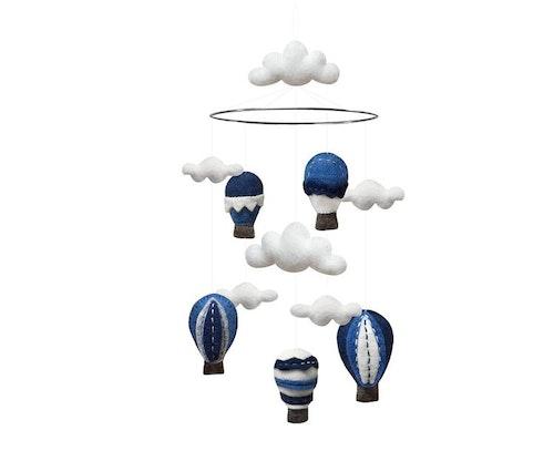 Mobil, luftballonger med moln, blå, Gamcha