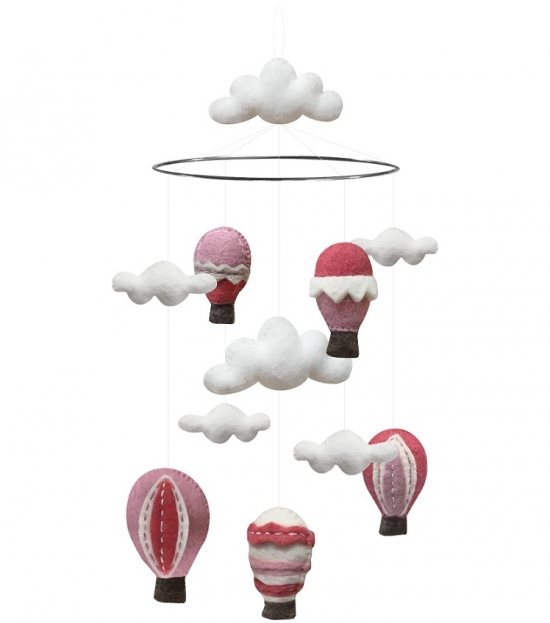 Mobil, luftballonger, rosa, Gamcha