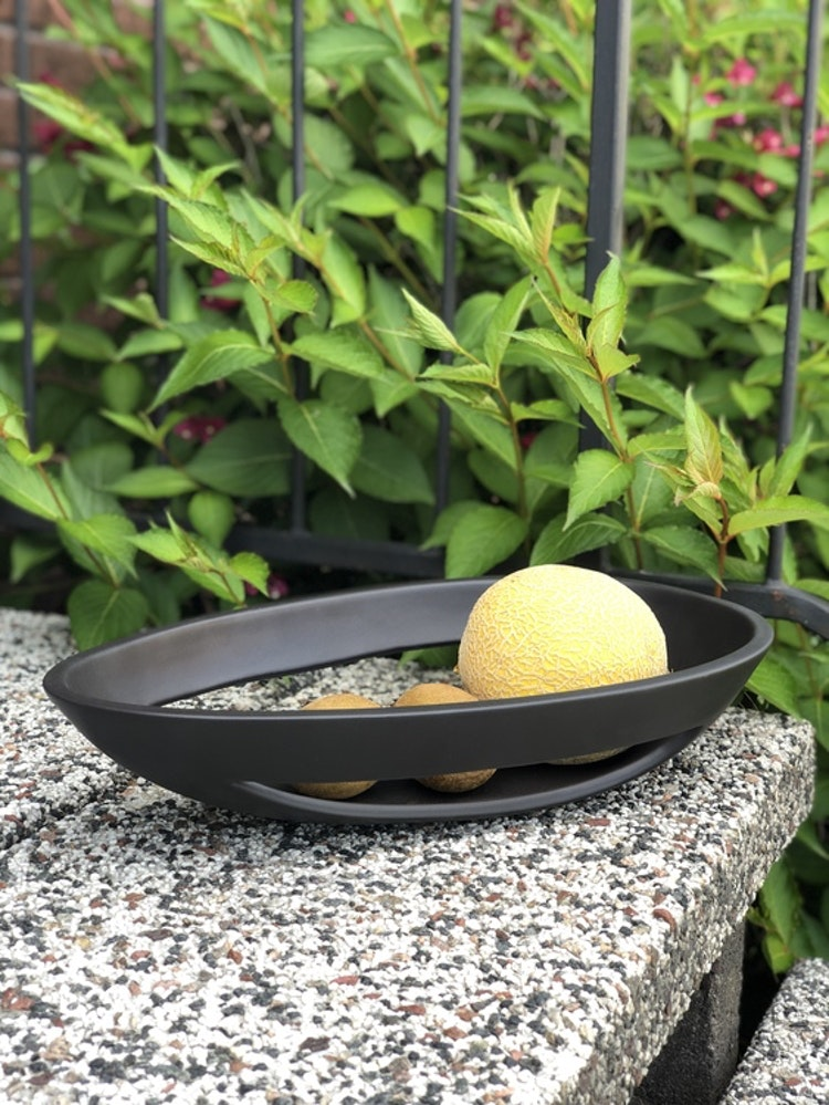 Fat Kokong oval bord, brun, design Bernadotte & Kylberg, Kähler