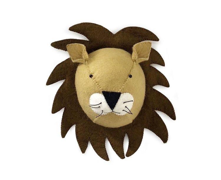 Lejon, barnrum, trofé, väggdekoration, Gamcha