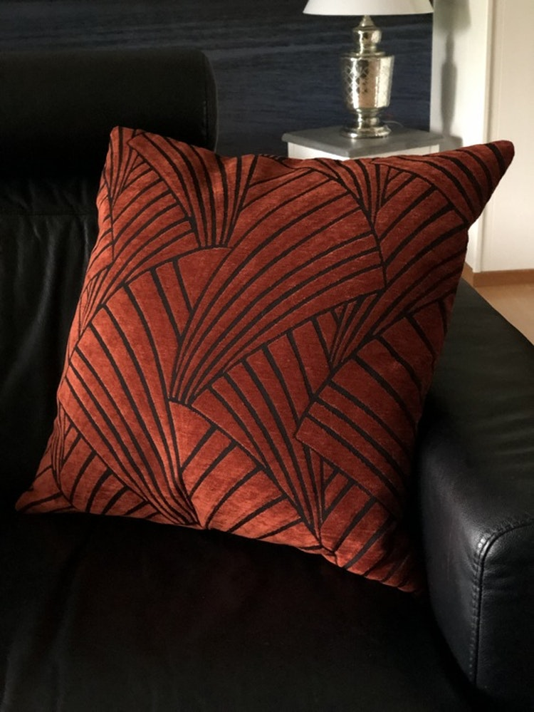 Kuddfodral Victorious, red, 60x60 cm, Jakobsdals textil