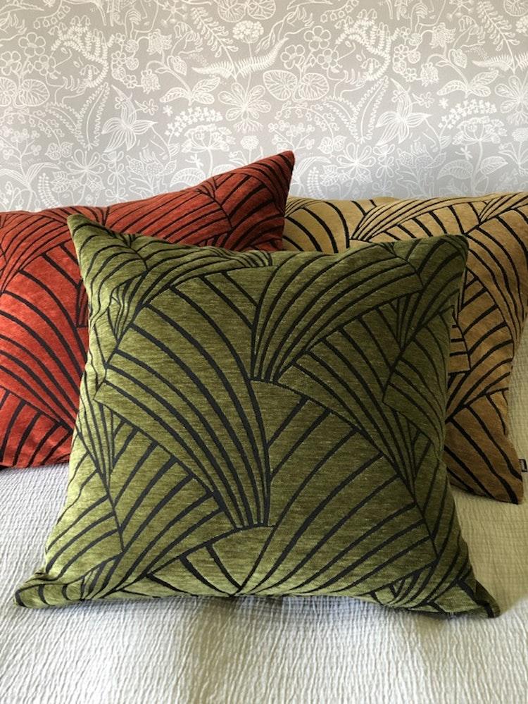 Kuddfodral Victorious, green, 60x60 cm, Jakobsdals textil