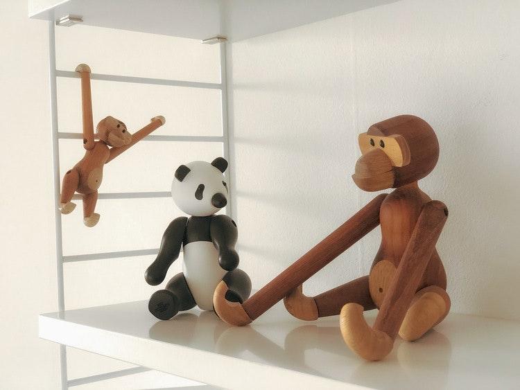 Kay Bojesen, panda liten, apa liten, apa mini