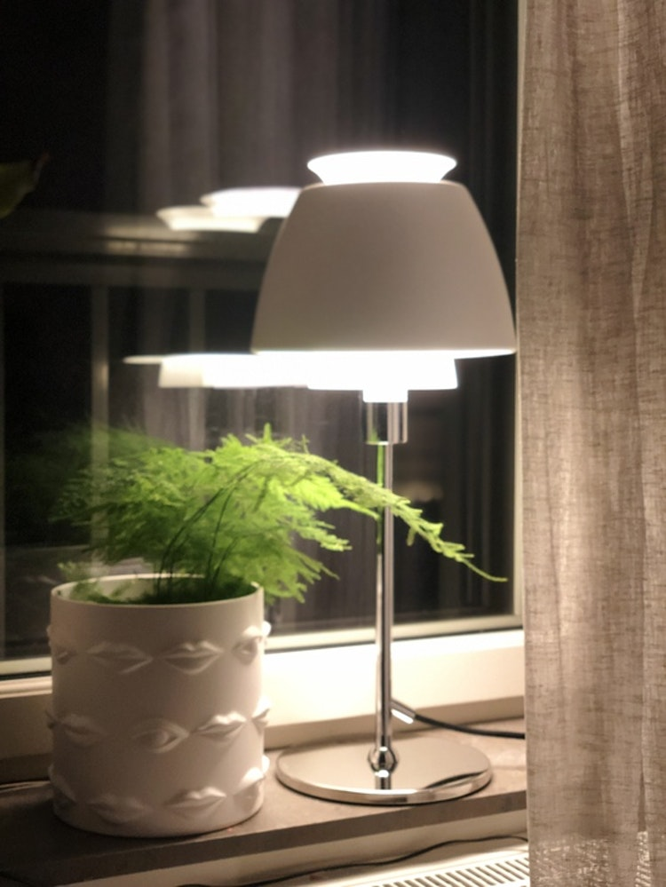 Vas/kruka Ego, keramik, 20 cm, Hallbergs belysning,  Buzz lampa ateljé Lyktan