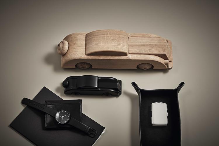 Bil, limousine, liten, svart, Kay Bojesen, träfigur