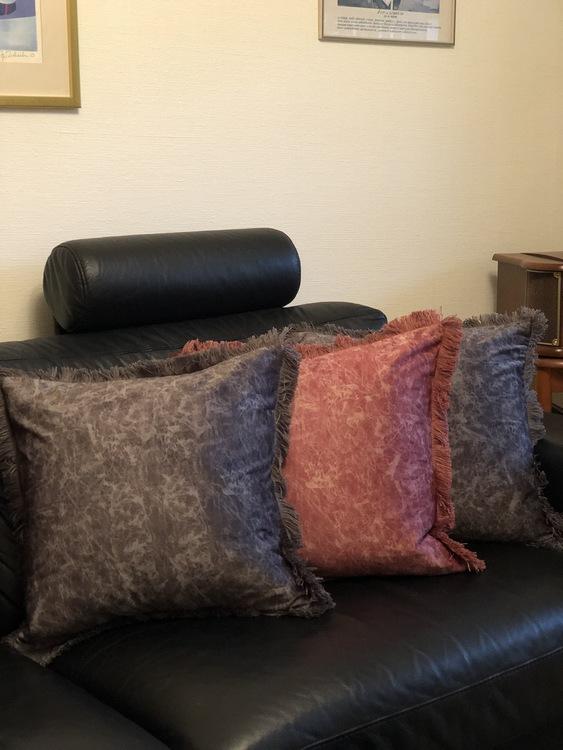Kuddfodral Gina, grå, rosa