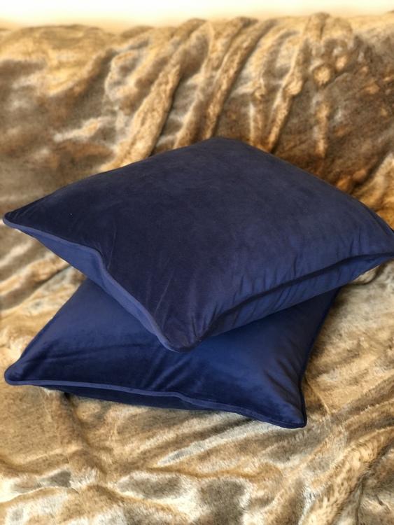 Kuddfodral Velvet, marin, sammet