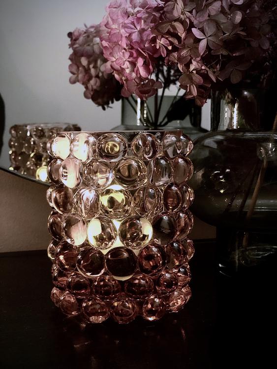 Hurricane Lamp Boule, Rosé, Skogsberg & Smart