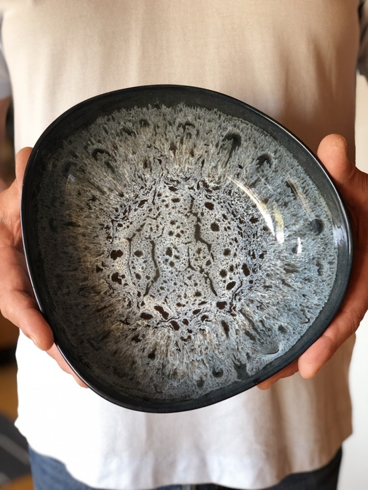 Skål Tavaha, A Simple Mess, diameter 23 cm, blågrå lasyr