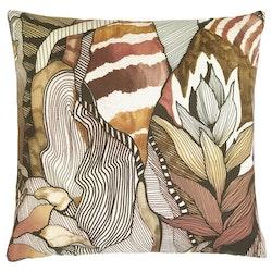 Kuddfodral Modern Art Outdoor, brun, Jakobsdals textil