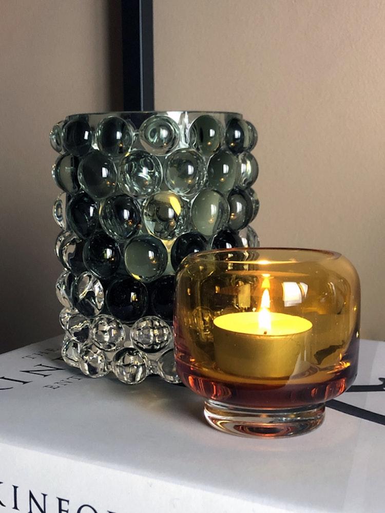 Hurricane Lamp Boule Sage, Skogsberg & Smart, Stack, Warm Nordic, amber