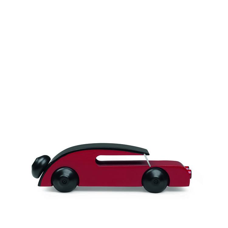 Bil, sedan, liten, svart/röd, Kay Bojesen