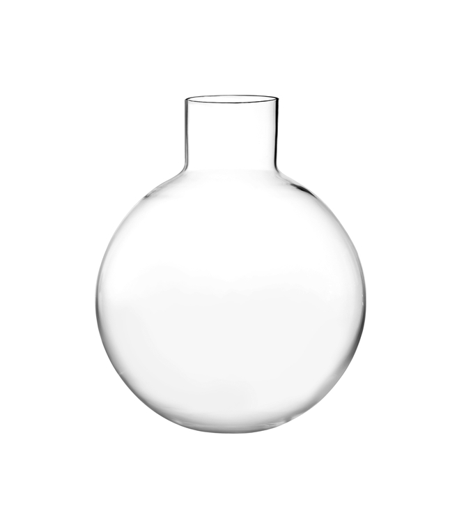 Vas Pallo liten, Skrufs glasbruk, klarglas, 33 cm