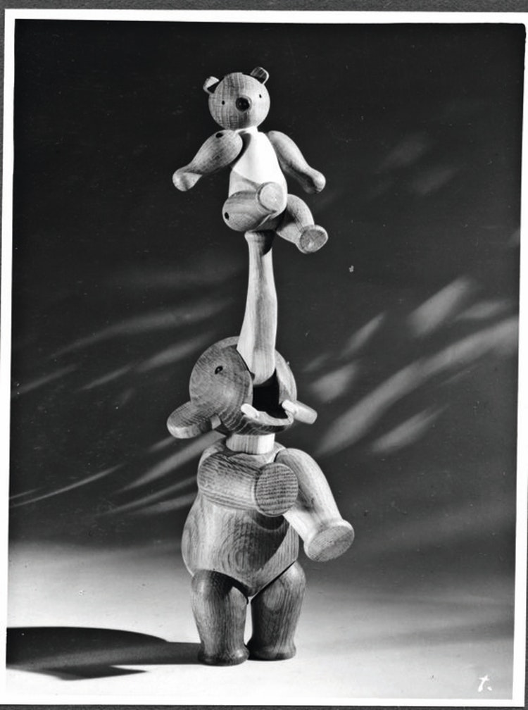 Kay Bojesen, elefant liten, ek, träfigur, björn liten
