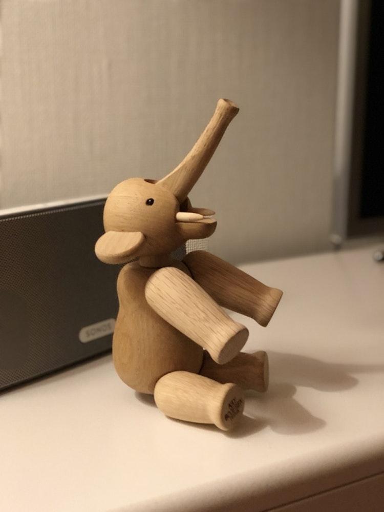Kay Bojesen, elefant liten, ek, träfigur, Sonos