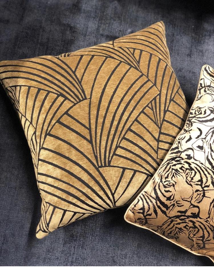 Kuddfodral Elegant, multi, 50x50 cm, Jakobsdals textil, kuddfodral Victorious gold