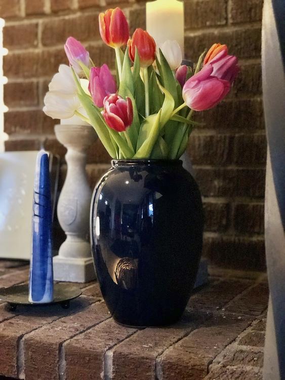 Vas Bitz, 25 cm, mörkblå, keramik