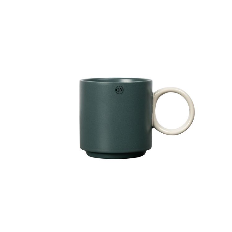 Mugg Noor, grön/grå, BY ON