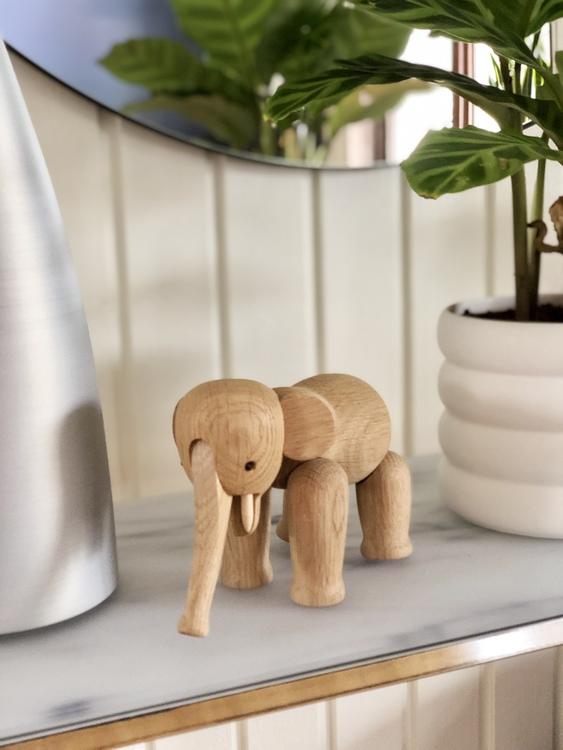 Kay Bojesen, elefant liten, ek, träfigur