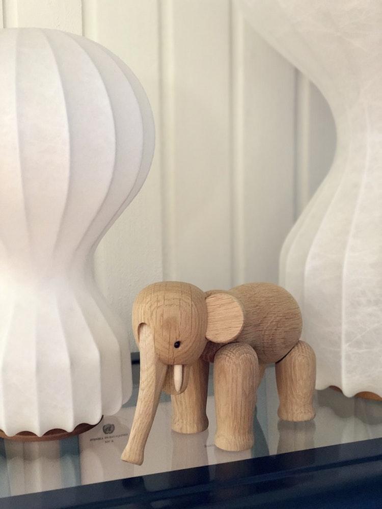Kay Bojesen, elefant liten, ek, träfigur, Flos Gatto piccolo, Flos Gatto grande