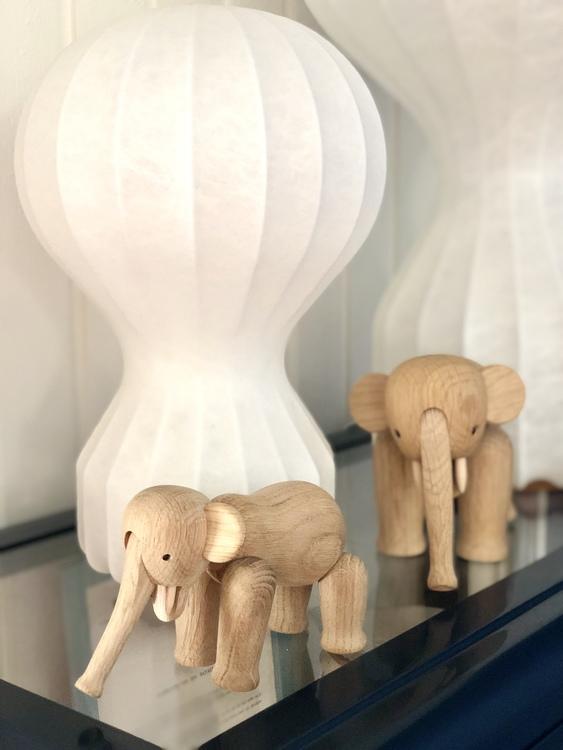 Kay Bojesen, elefant mini, ek, träfigur, elefant liten, Flos Gatto piccolo, Flos Gatto grande