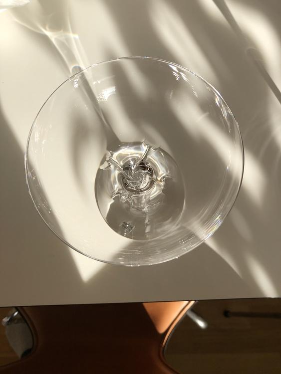 Crystal magic coupe, clear, 20 cl, Kosta Boda, ovanifrån och insida av glaset