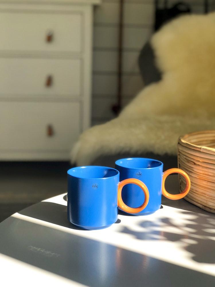 Mugg Noor, blå/brun, BY ON