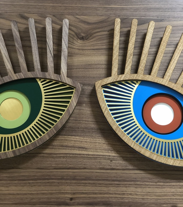 Väggdekoration UMASQU lucky charm eye #9 och #6