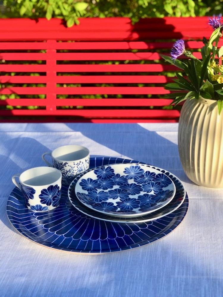 2-pack assiett/ liten tallrik Daggkåpa, blå, 21 cm, Götefors Porslin