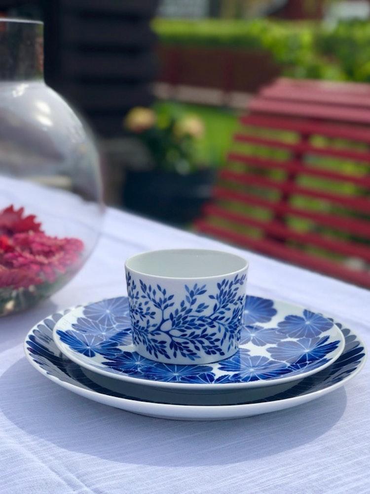 2-pack kopp Myrten, blå, 24 cl, Götefors Porslin