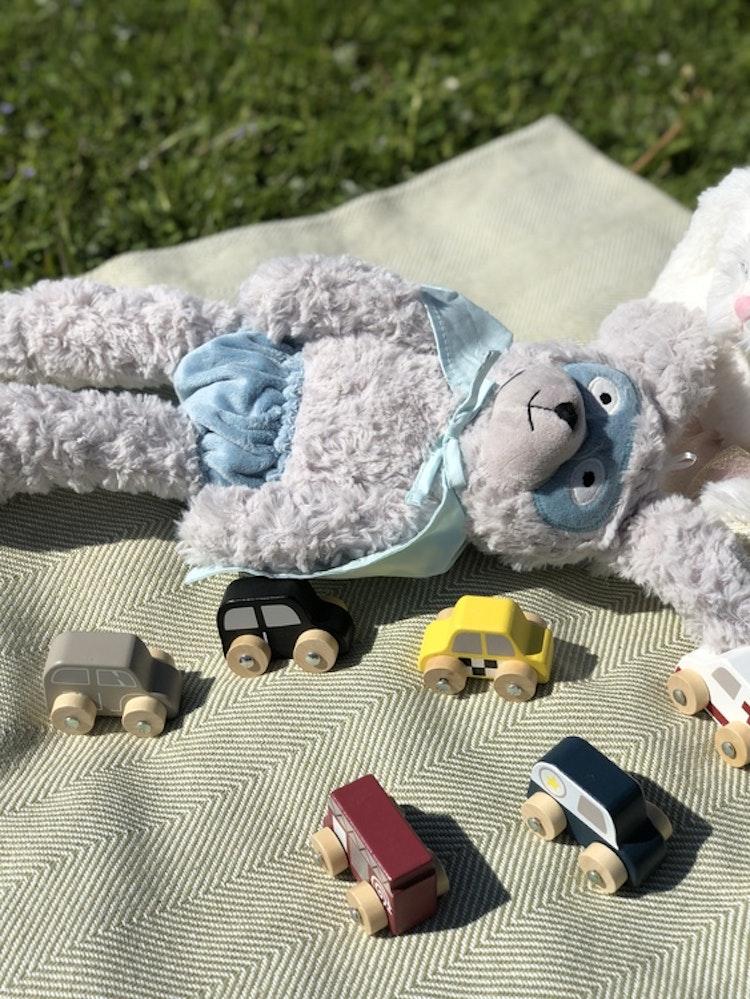 Gosedjur kanin, Superhjälte, Bloomingville, leksaksbilar gjorda i trä