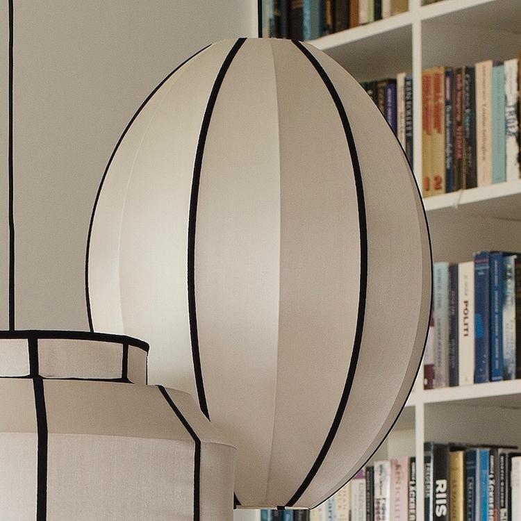 Lampskärm Indochina , oval, L, kit, silk, Oi Soi Oi