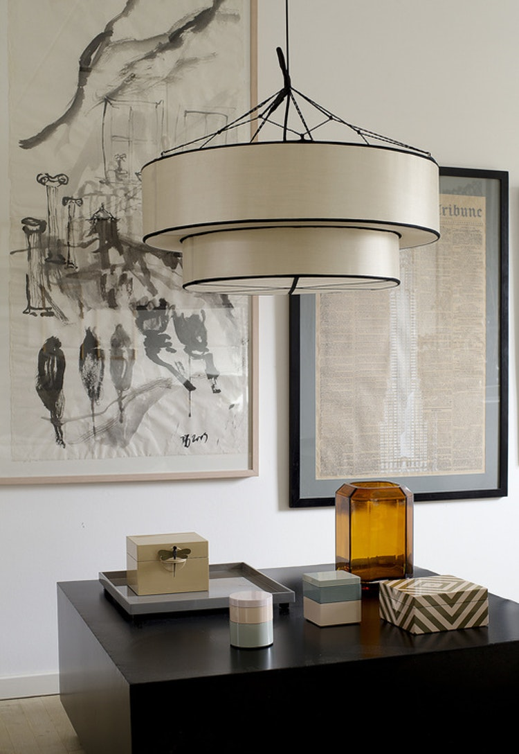 Lampskärm Indochina, Top hat , kit, siden, Oi Soi Oi