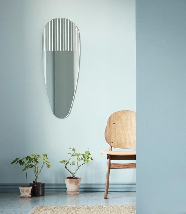 Spegel Masquerade, oval, Warm Nordic