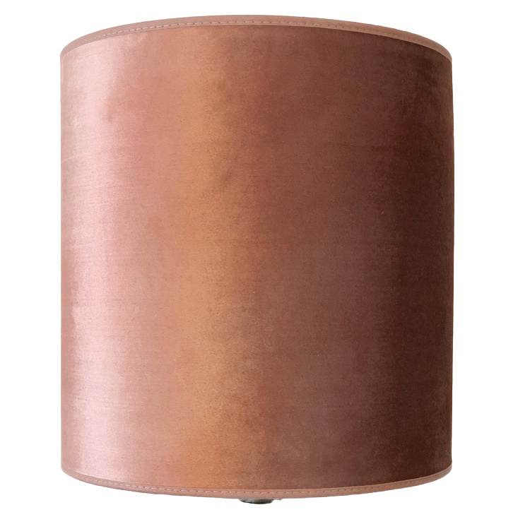 Lampskärm Roma 20 hög, gammelrosa, Hallbergs belysning