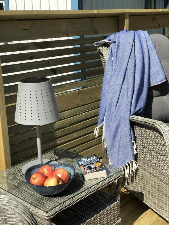 Utomhuslampa Alvar, grå metall, 48 cm, solcellslampa