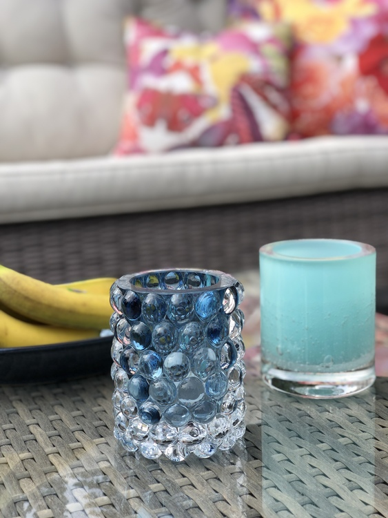 Hurricane Lamp Boule Smoky blue, Skogsberg & Smart