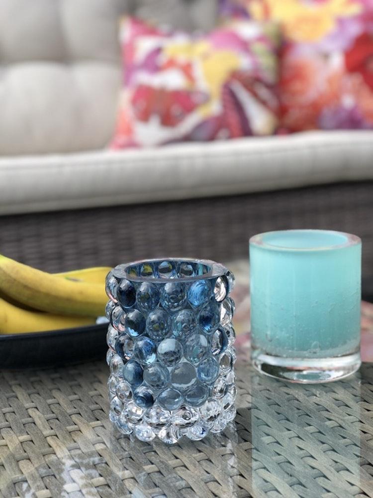 Hurricane Soda aqua, Skogsberg & Smart, Hurricane Lamp Boule Smoky blue