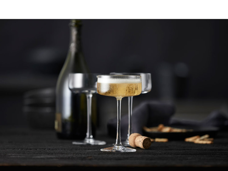 Champagneskål Zero 26 cl 4 st, Lyngby glas